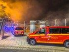 © Feuerwehr Dresden Über die Belüftungsanlage dringt Brandrauch aus dem Tunnel herauf.