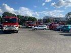 Die Fahrzeuge im Bereitstellungsraum.