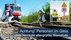 """Im Bereich von Gleisanlagen in München kam es am Freitag zu mehrmaligen Gleissperrungen nachdem """"Personen im Gleis"""" gemeldet worden waren. Dies führte zum Teil zu erheblichen betrieblichen Auswirkungen im Bahnbetrieb."""