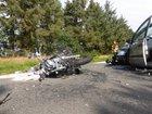Aufnahme der bei dem Unfall beteiligten Fahrzeuge