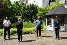 Amtseinführung Isabel Fischer (v.l. PVP Gerd Lewin, PR'in Isabel Fischer, EKHK Jens Risting, PR'in Vicky Berkhan)