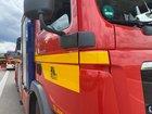 © Feuerwehr Dresden Symbolbild Einsatzfahrzeuge an der Einsatzstelle.