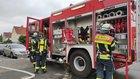 Nach der Brandbekämpfung Foto: Feuerwehr Celle