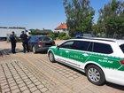 Kontrollsituation von Zoll und Polizei