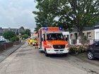 Rettungsdienst bereitet sich auf die Versorgung der betroffenen Personen vor Quelle: Feuerwehr Pulheim, Fabian Ufer