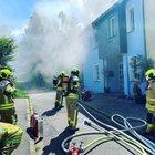 Kellerbrand - verletzte Bewohnerin