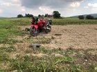 Unfallbeteiligtes Motorrad
