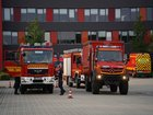 © Feuerwehr Dresden Die ersten Fahrzeuge trafen gegen 17:30 Uhr an der Feuer- und Rettungswache Übigau ein.
