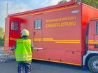 © Feuerwehr Dresden Der Einsatzleitwagen 2 ist bei der Einsatzübung eingebunden.