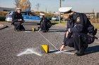 Symbolbild: Unfallaufnahme durch die Polizei