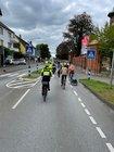 Begleitung der Fahrrad-Demonstration in der Detmolder Innenstadt am Samstag