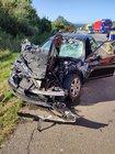 Pkw Mercedes des Unfallverursachers 2