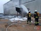 Während des Einsatzes konnte ein weiterer Einsatz der Feuerwehr ein Großfeuer verhindern.