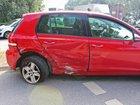 Der stark beschädigte VW Golf