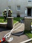 Kellerbrand am frühen Nachmittag in einem Mehrfamilienhaus