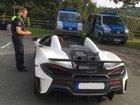 Ein McLaren wurde ebenfalls überprüft.