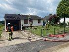 Feuer im Dachstuhl eines Einfamilienhauses in Oering
