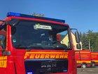 © Feuerwehr Dresden Das Löschfahrzeug der Stadtteilfeuerwehr Lockwitz war zuerst an der Einsatzstelle.