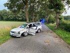 Der Fahrer aus Coesfeld wurde bei dem Unfall schwer verletzt.