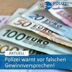 Symbolbild: Polizei warnt vor falschen Gewinnversprechen