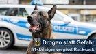 Ein vergessener Rucksack im Hauptbahnhof München führte die Beamten der Bundespolizei zu einem 51-Jährigen, der 1,7 Gramm Kokain mit sich führte.