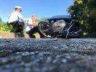 Symbolbild Polizei: Unfallsituation Fahrrad / Auto