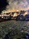 brennende Rundballen