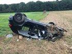 Beteiligtes Fahrzeug des 23-jährigen, schwerverletzten, Fahrers.