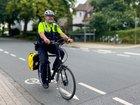 Die Verkehrssicherheitsberater waren auf Fahrrädern unterwegs.