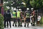 Einsatzkräfte vor Ort in der Straße Ohlenhoff. Bildnachweis: Jan Henrik Conradi