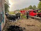 Schwerer Verkehrsunfall auf der A 57 (Foto: Torsten Matenaers)