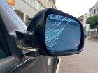 Dieser Außenspiegel wurde durch den Beschuldigten beschädigt.