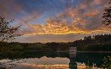 thumbnail - Ködeltalsperre, Sonnenuntergang