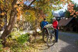 thumbnail - Radfahrer am Museums- und Ferienhof Waltersdorf bei Berga