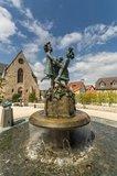 thumbnail - Lindenplatz mit Drei-Grazien-Brunnen