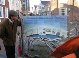 thumbnail - Altstadt Leer, Beschilderung entlang des Fußweges durch die Innenstadt