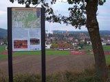 thumbnail - Infotafel an der Siechenhalde nördlich Schongau, mit Blick über die Altstadt
