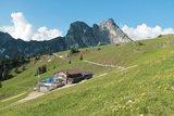 thumbnail - Die Hochalphütte mit Aggenstein im Hintergrund