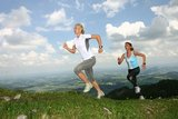 thumbnail - Läuferinnen an der Alpspitze in Nesselwang im Allgäu