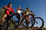 thumbnail - Freunde beim Radfahren