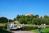 thumbnail - Weserfähre vor der Burg Polle