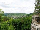 thumbnail - Blick vom Aussichtspunkt oberhalb des Teufelslochs auf Bollendorf