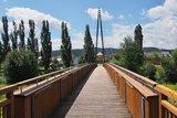 thumbnail - Fußgänger-Pylonbrücke über die Werra in Breitungen