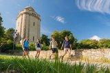 thumbnail - Wandergruppe am Bismarckturm bei Ingelheim