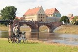 thumbnail - Radfahrer an der Mulde bei Grimma