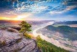 thumbnail - Blick vom Lilienstein am Morgen