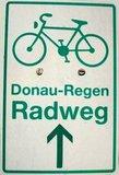 thumbnail - Markierung Donau-Regen-Radweg