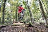 thumbnail - Mountainbiker im Sprung auf dem Flowtrail Siegen