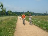 thumbnail - Radfahrer in Richtung Prinz-Moritz-Grabmal