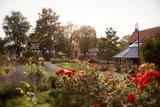 thumbnail - Blick auf den Rosengarten mit Gradierpavillon